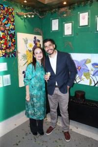 O empresario Diogo Eoque ladeado pela arquiteta Monica Seabra (esquerda)